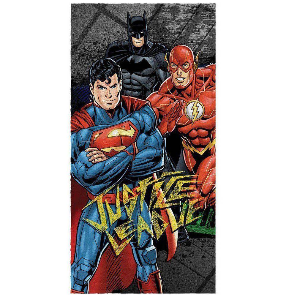 Toalha de Banho Infantil Liga da Justiça DC Heroes