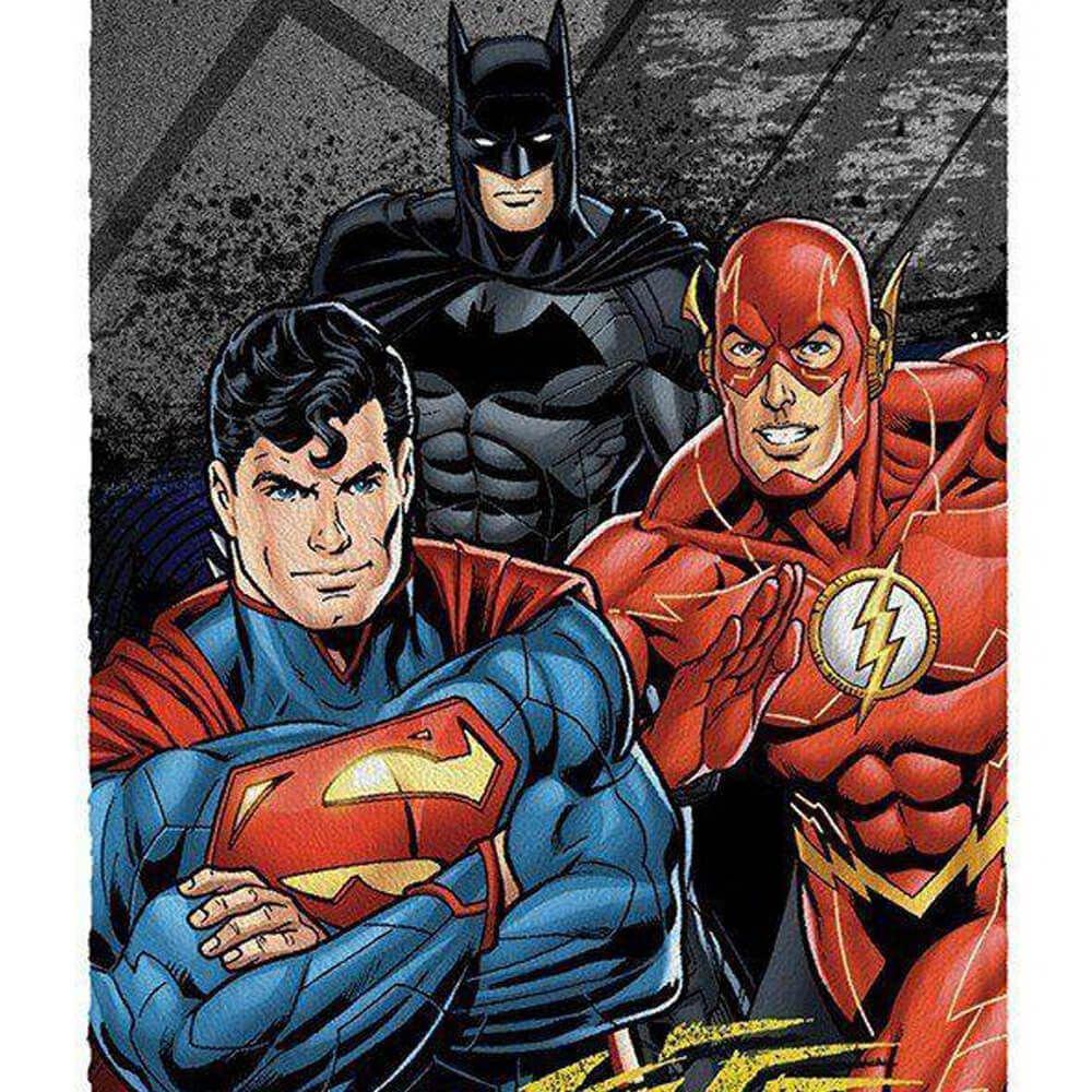 Toalha de Banho Infantil Felpuda Liga da Justiça DC Heroes