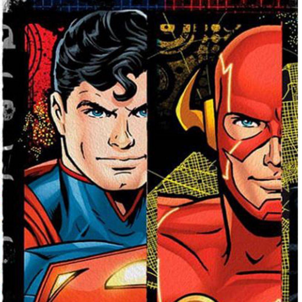 Toalha de Banho Infantil Liga da Justiça Superman e Flash
