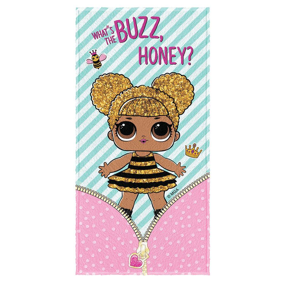 Toalha de Banho Infantil Felpuda LOL Whats The Buzz Honey