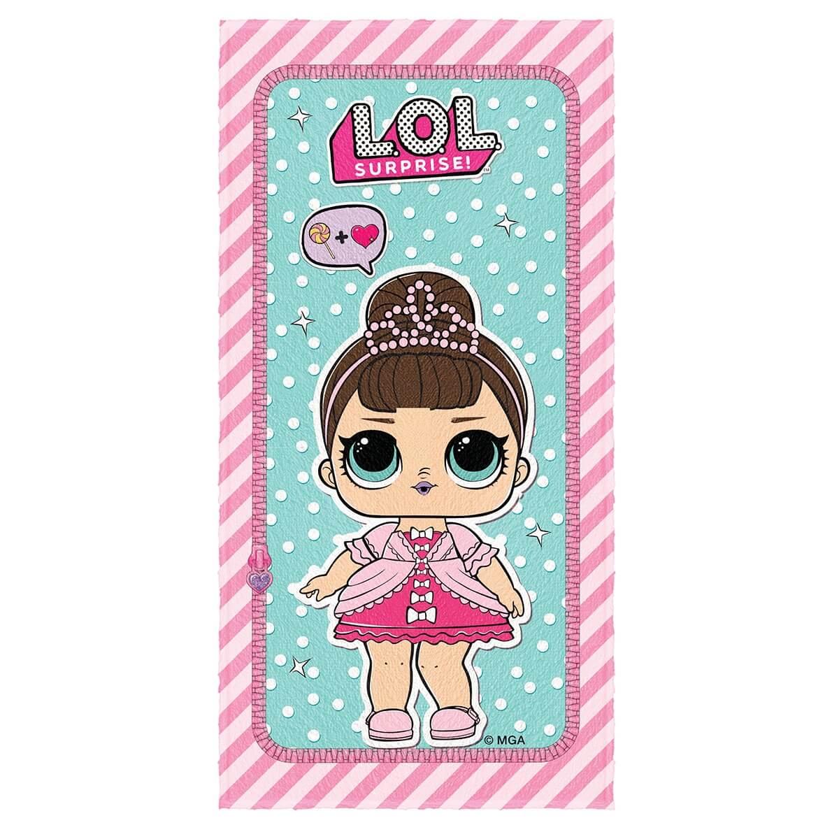 Toalha de Banho Infantil Felpuda LOL Doll