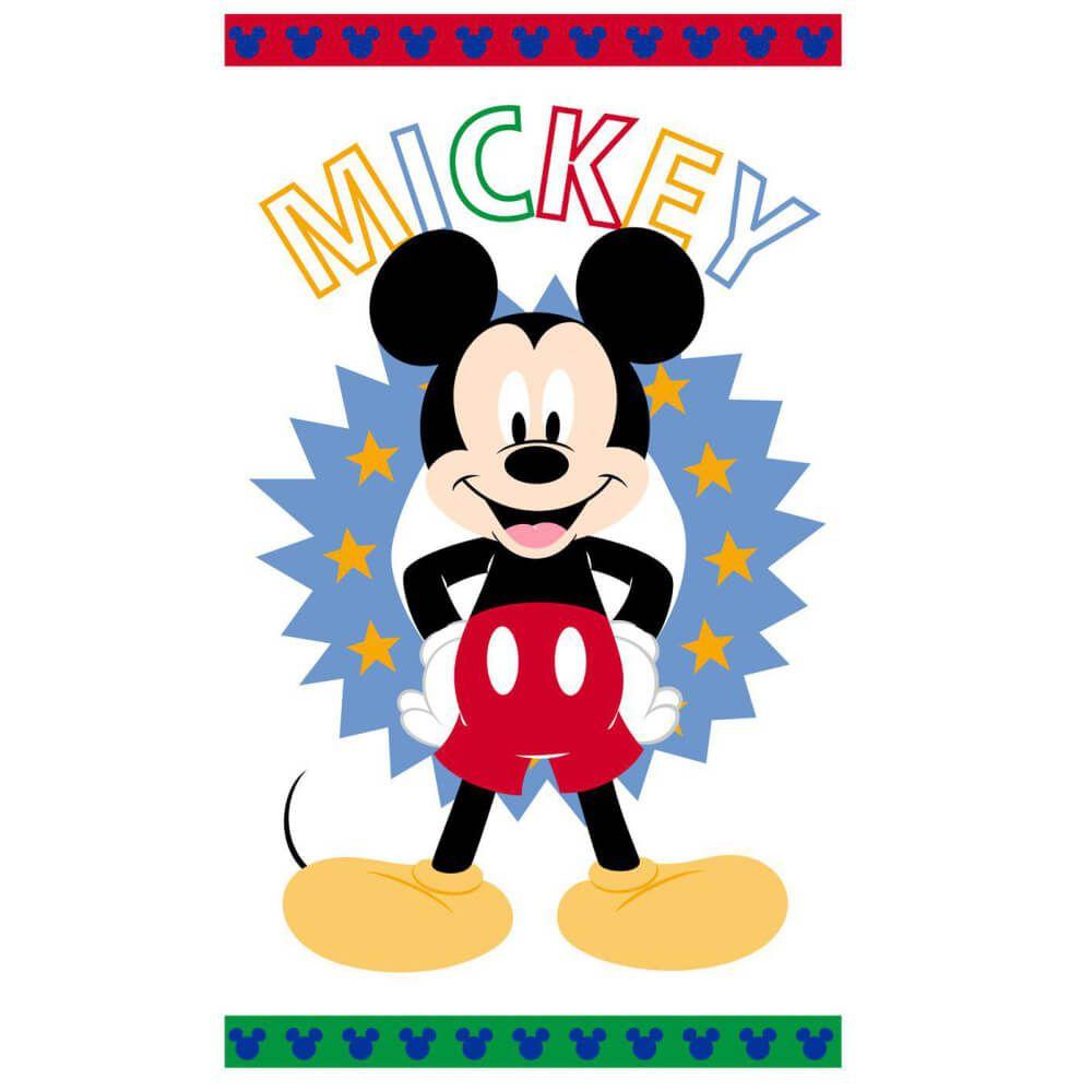 Toalha de Banho Infantil Mickey Happy