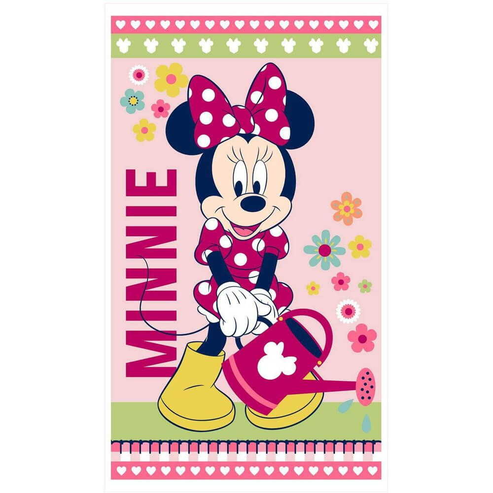 Toalha de Banho Infantil Minnie Flower
