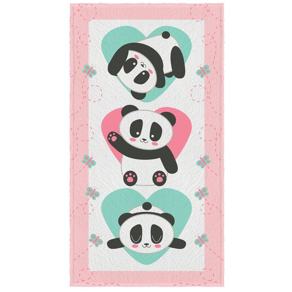 Toalha de Banho Infantil Panda