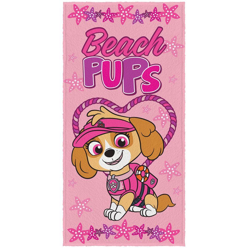 Toalha de Banho Infantil Patrulha Canina Beach Pups
