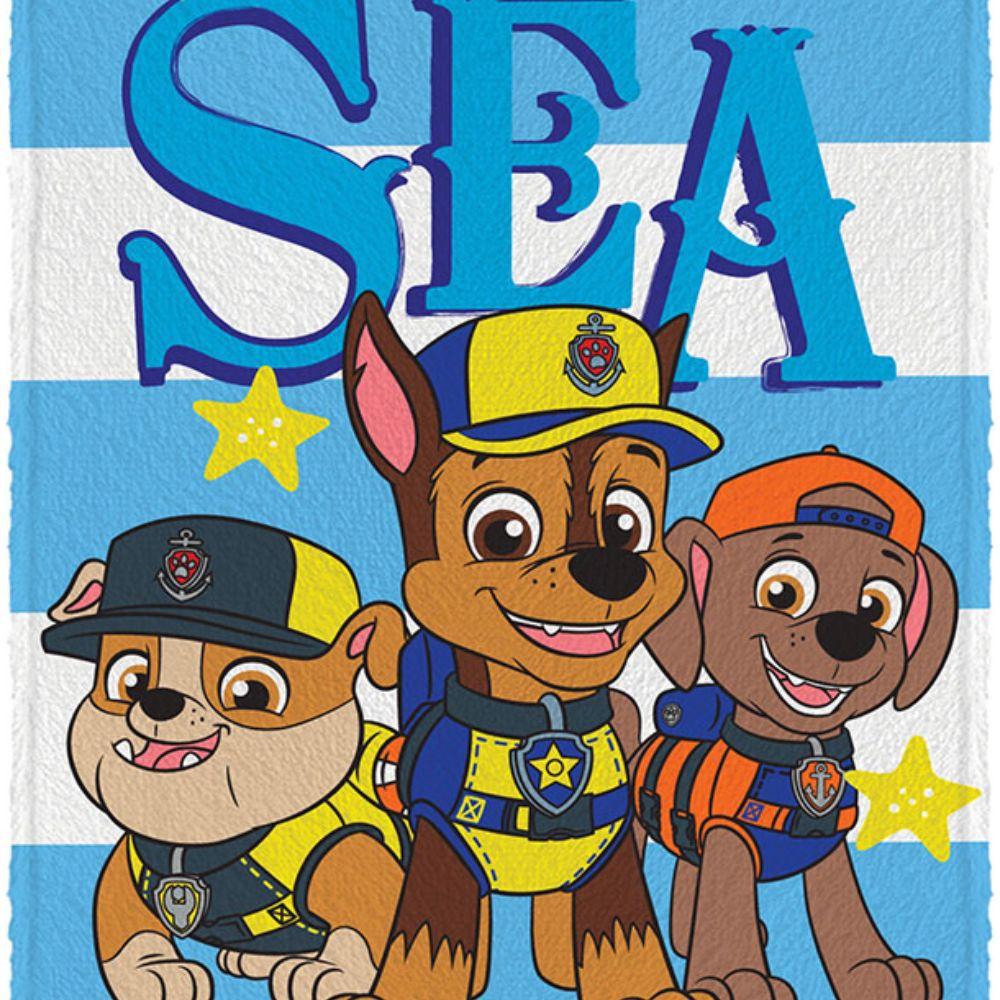 Toalha de Banho Infantil Patrulha Canina Sea Dogs