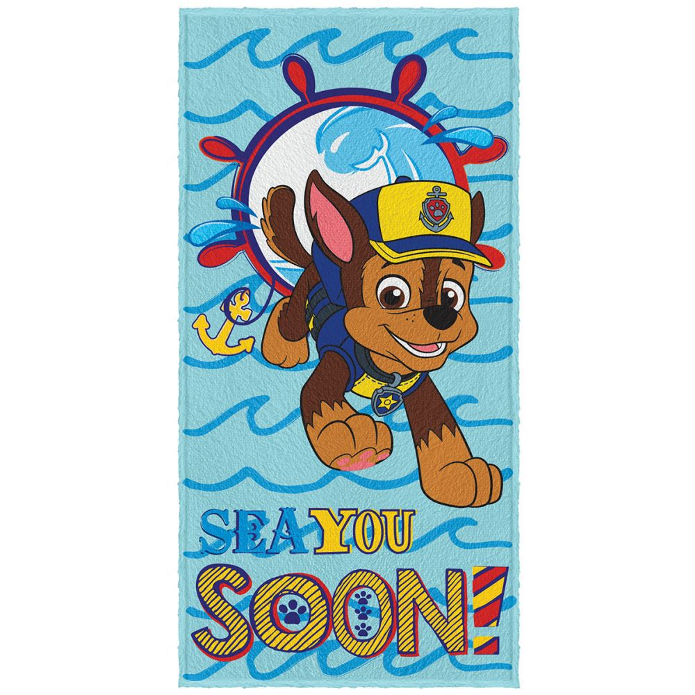 Toalha de Banho Infantil Patrulha Canina Sea You Soon
