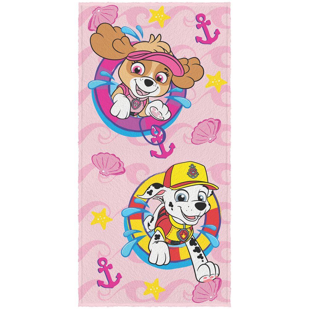 Toalha de Banho Infantil Patrulha Canina Skye e Marshall
