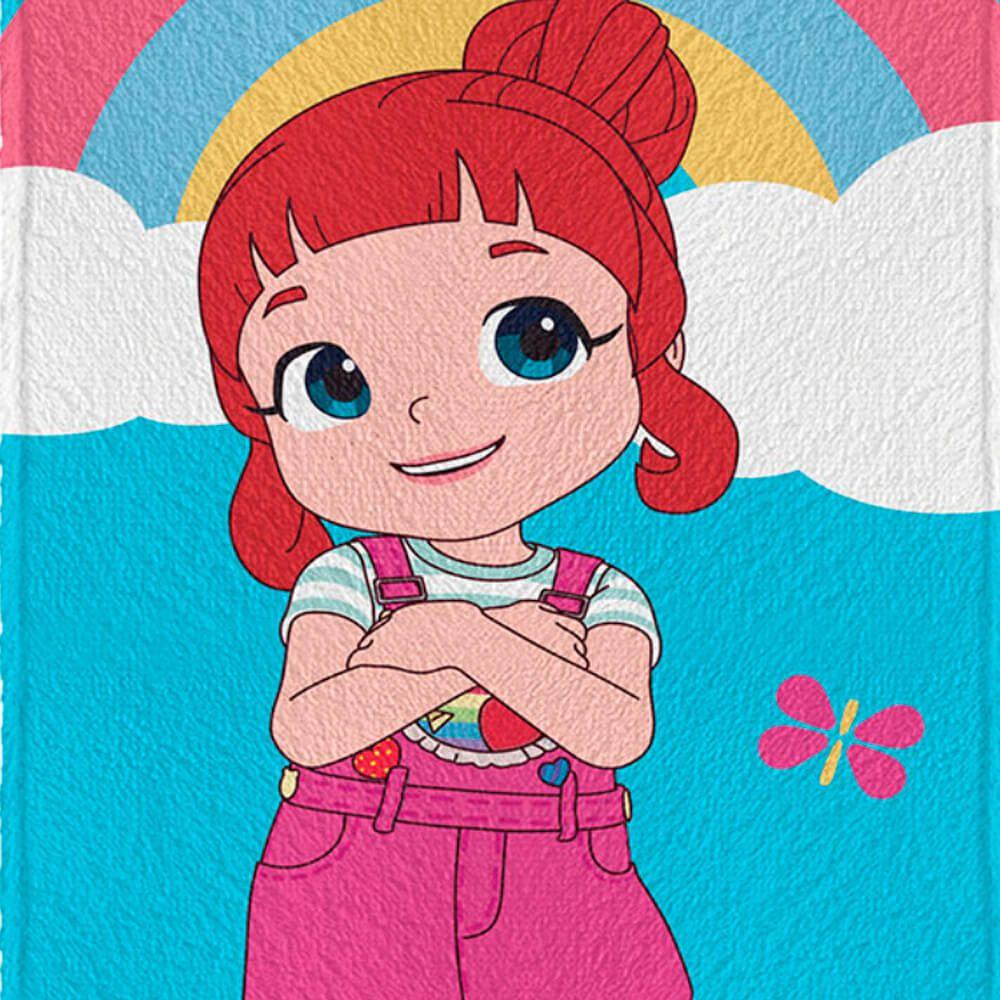 Toalha de Banho Infantil Rainbow Ruby Arco Íris