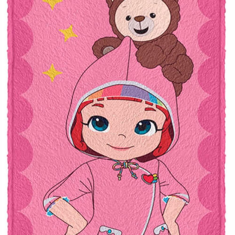Toalha de Banho Infantil Rainbow Ruby Capa de Chuva