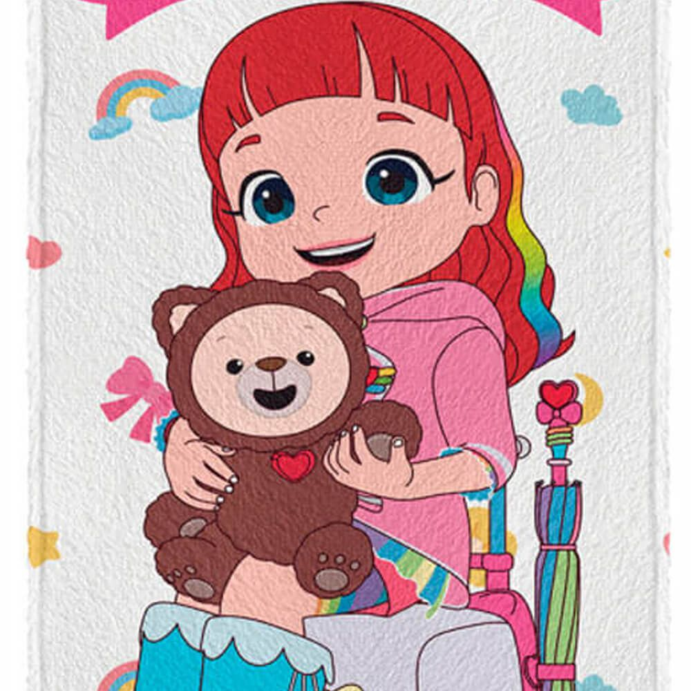 Toalha de Banho Infantil Rainbow Ruby Choco