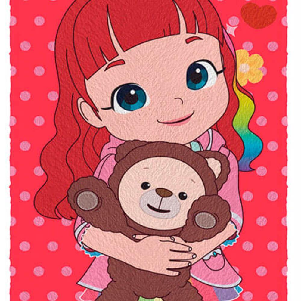 Toalha de Banho Infantil Rainbow Ruby Ursinho