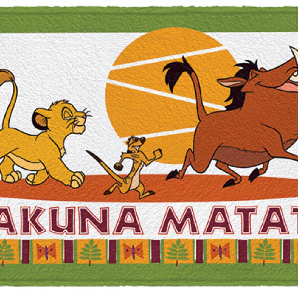 Toalha de Banho Infantil Rei Leão Hakuna Matata