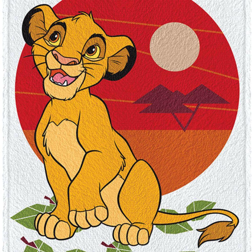 Toalha de Banho Infantil Rei Leão Simba