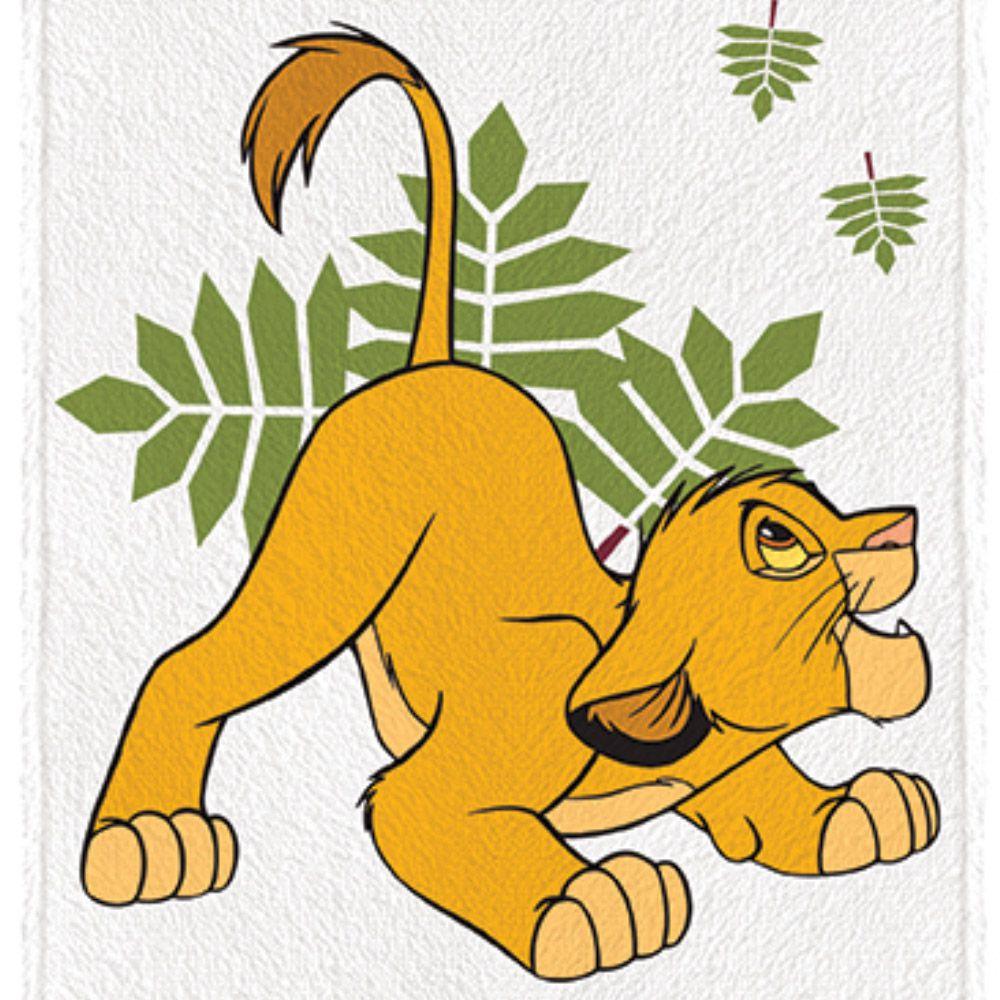 Toalha de Banho Infantil Rei Leão Simba Caça