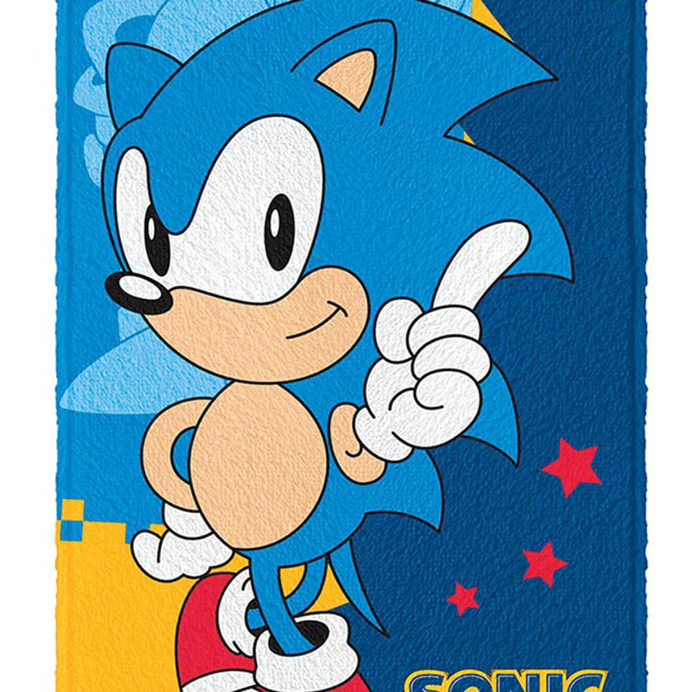 Toalha de Banho Infantil Sonic