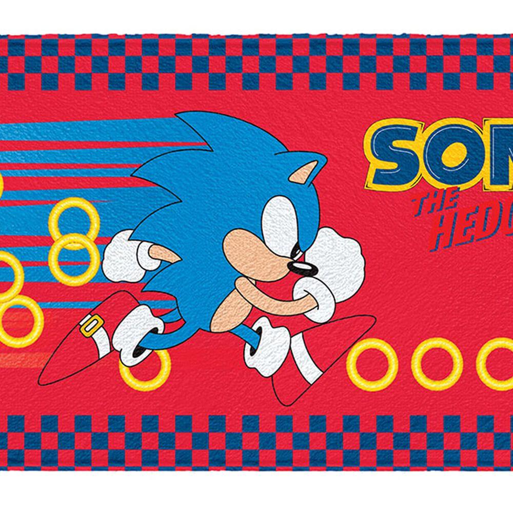 Toalha de Banho Infantil Felpuda Sonic Run