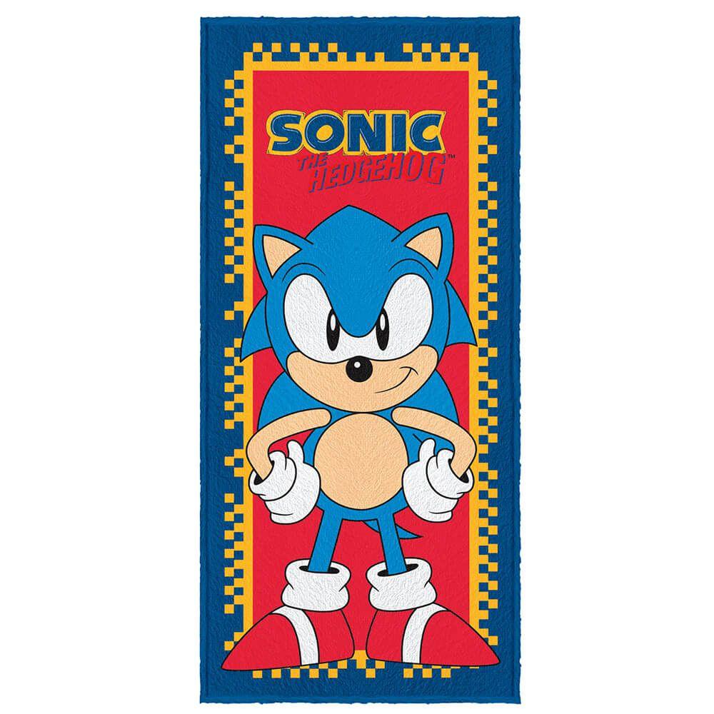 Toalha de Banho Infantil Felpuda Sonic Racer