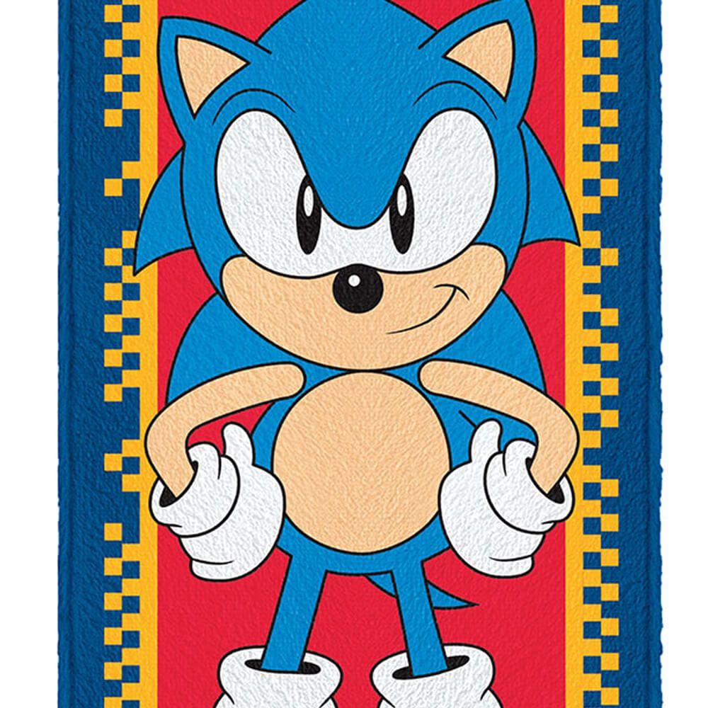 Toalha de Banho Infantil Sonic Pose
