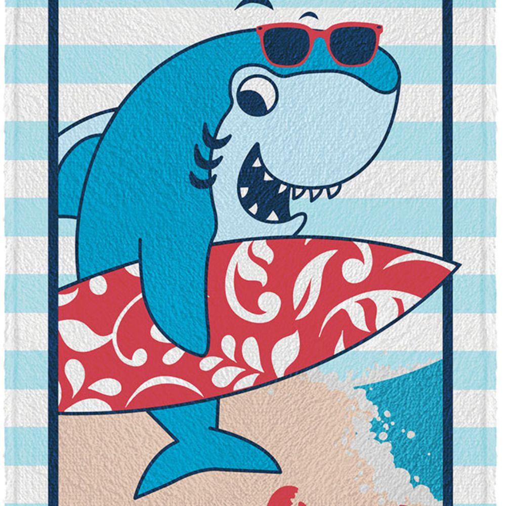 Toalha de Banho Infantil Tubarão