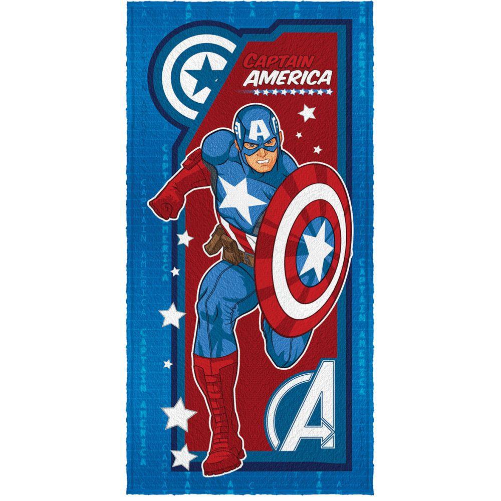 Toalha de Banho Infantil Vingadores Capitão América