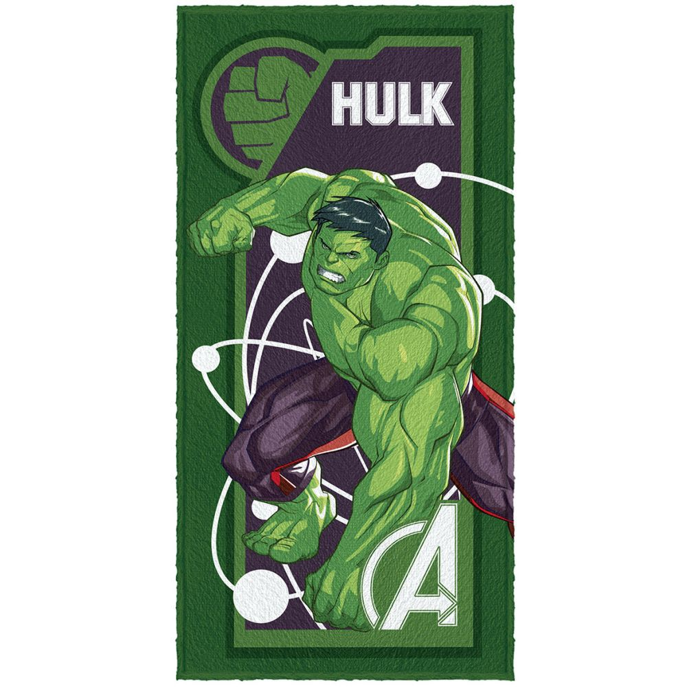 Toalha de Banho Infantil Vingadores Hulk