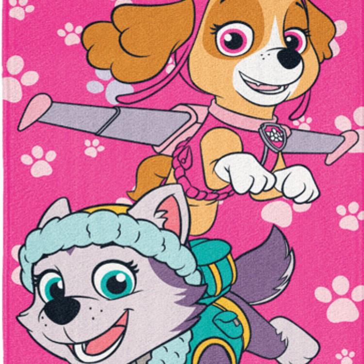 Toalha de Banho Patrulha Canina Aveludada Infantil Rosa