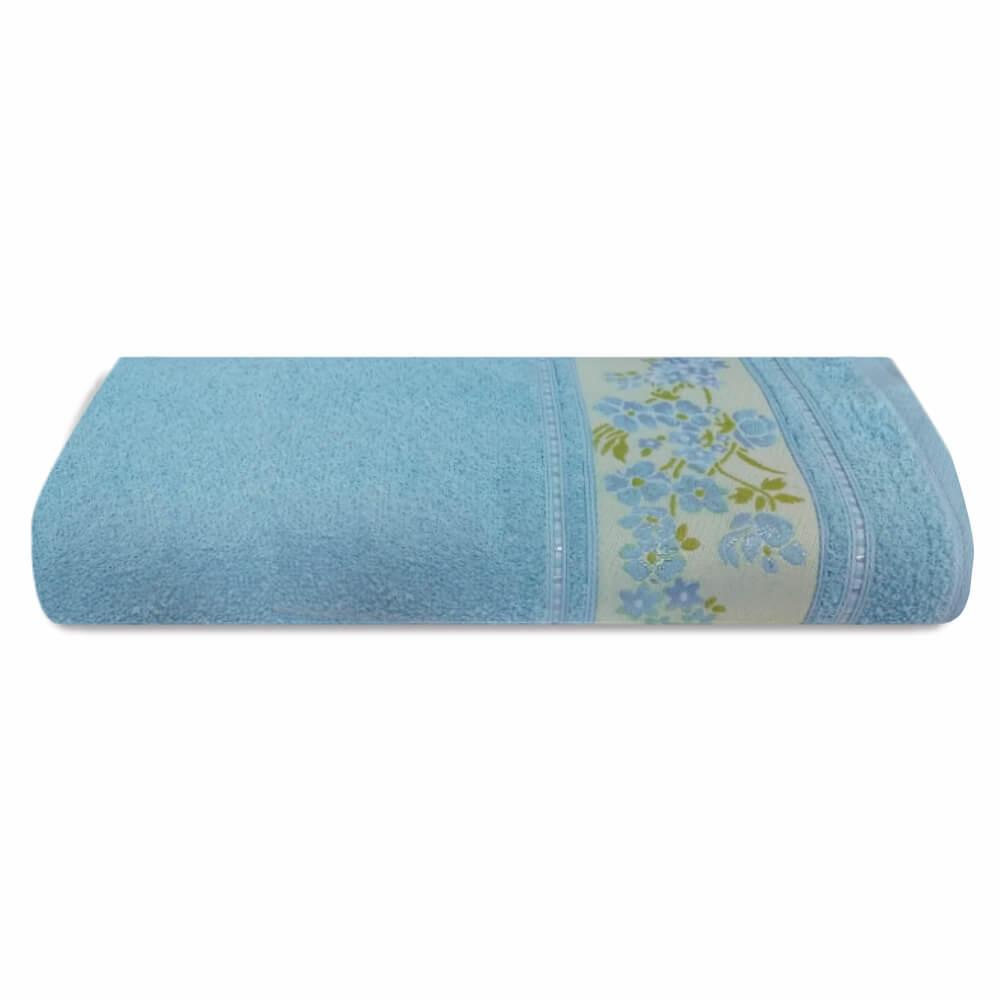 Toalha de Banho Prata Cecília Azul