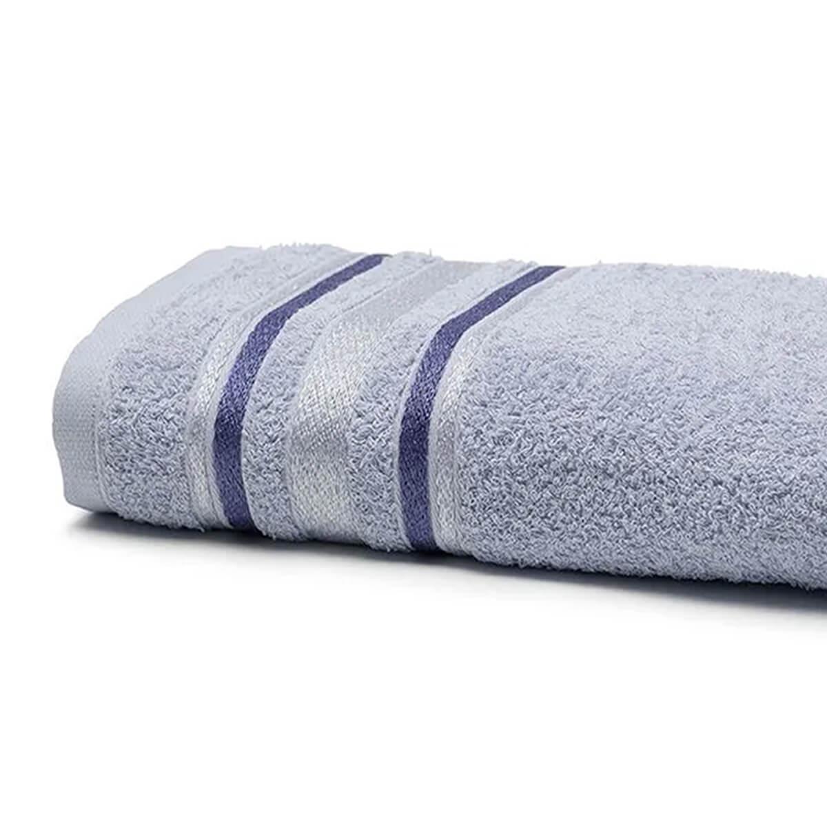 Toalha de Banho Prata Serena Azul Claro