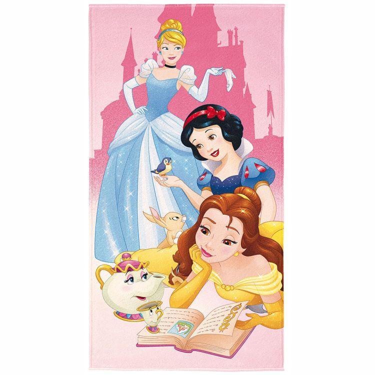 65ebdd02c Toalha de Praia Infantil Princesas Disney Aveludada
