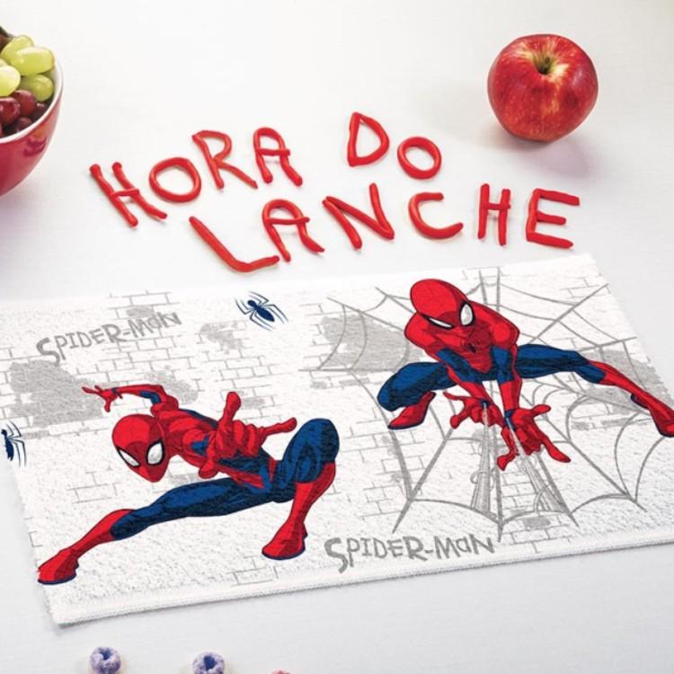 Toalha de Lancheira Homem Aranha Kit com 3 Peças