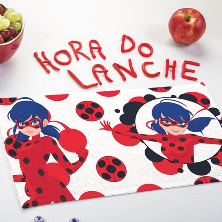 Toalha de Lancheira Ladybug Kit com 3 Peças