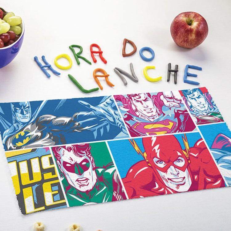 Toalha de Lancheira Liga Justiça Kit com 3 Peças