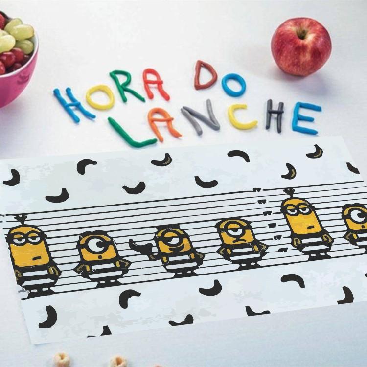Toalha de Lancheira Lepper Felpuda Minions Kit com 3 Peças