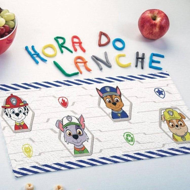 Toalha de Lancheira Lepper Felpuda Patrulha Canina Kit com 3 Peças