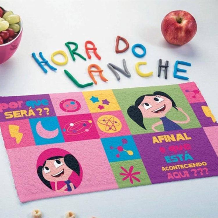Toalha de Lancheira Lepper Felpuda Show da Luna Kit com 3 Peças