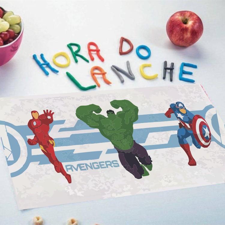 Toalha de Lancheira Lepper Felpuda Vingadores Kit com 3 Peças