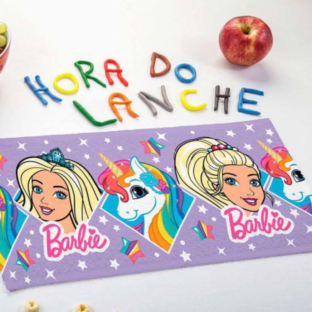 Toalha de Mão 3 Peças Barbie