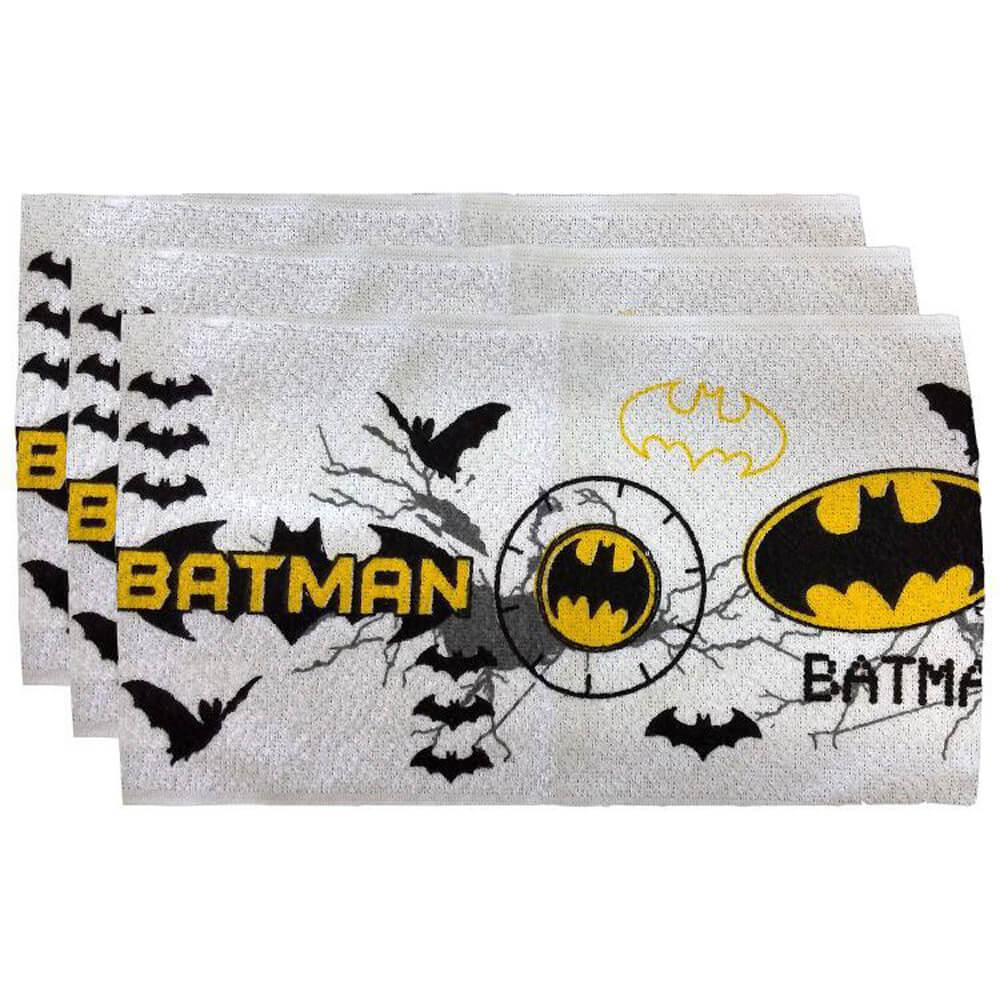 Toalha de Mão Felpuda 3 Peças Batman