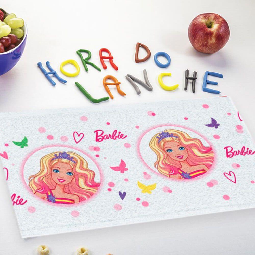 Toalha de Mão Kit 3 Peças Barbie