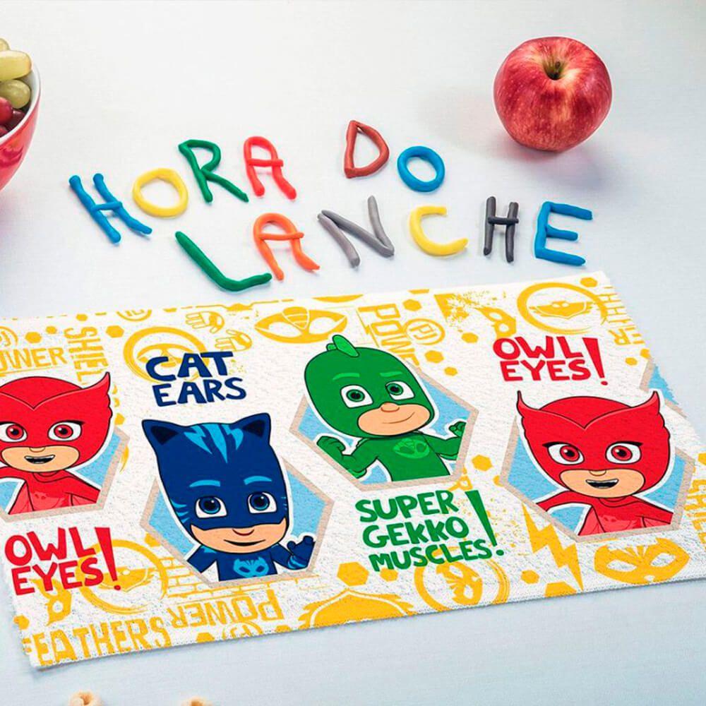 Toalha de Mão Kit 3 Peças PJ Masks