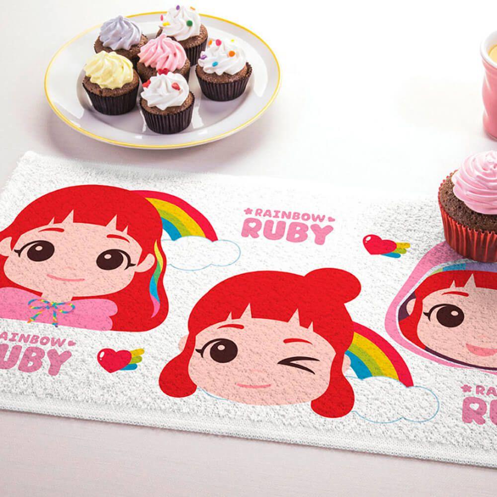 Toalha de Mão 3 Peças Rainbow Ruby