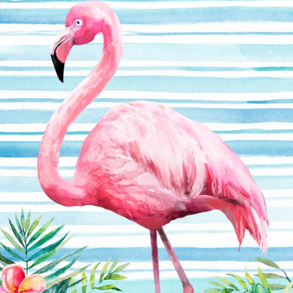 Toalha de Praia Aveludada Flamingo