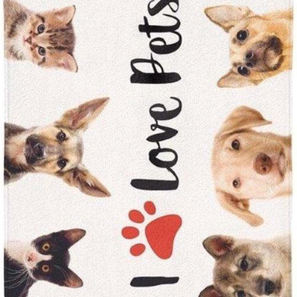 Toalha de Praia Aveludada I Love Pets