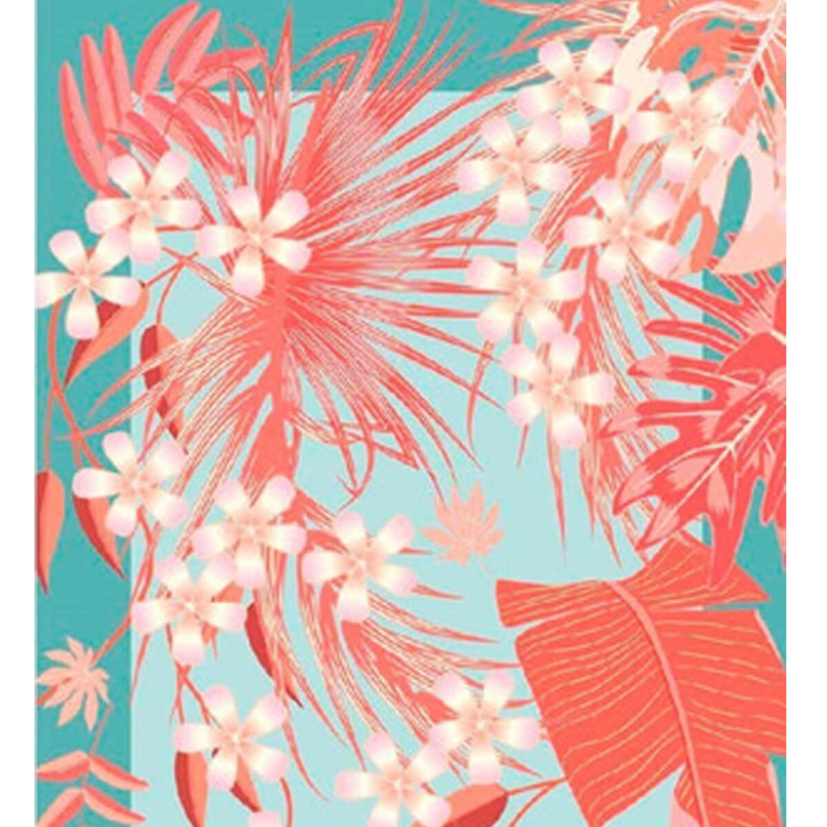 Toalha de Praia Aveludada Vereda Floral