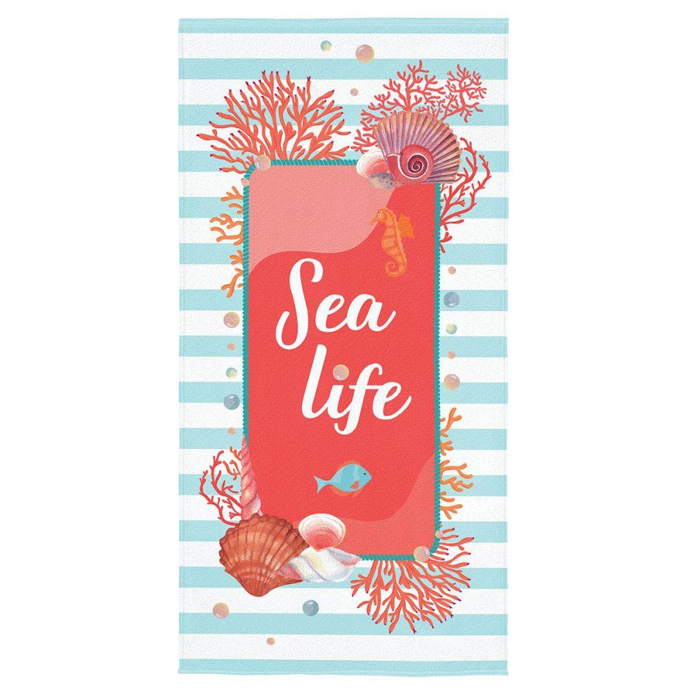 Toalha de Praia Coral Sea Life