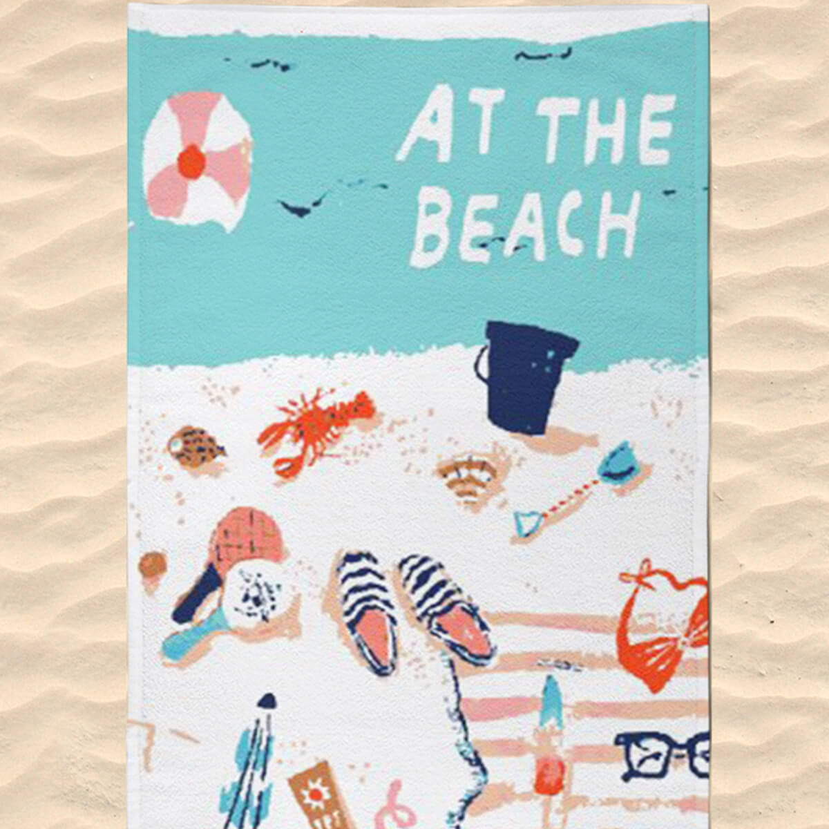 Toalha de Praia Estampada At The Beach