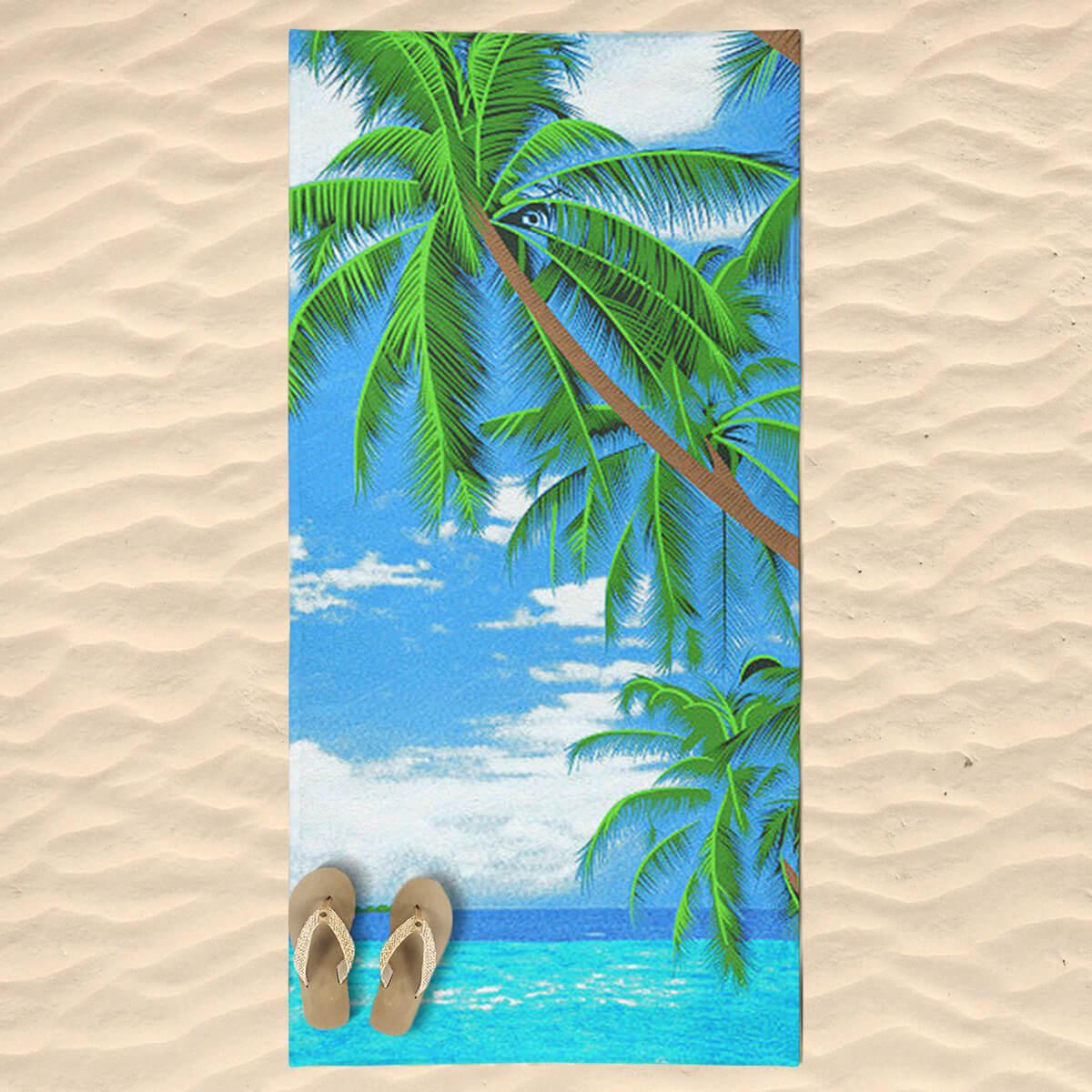 Toalha de Praia Estampada Beach