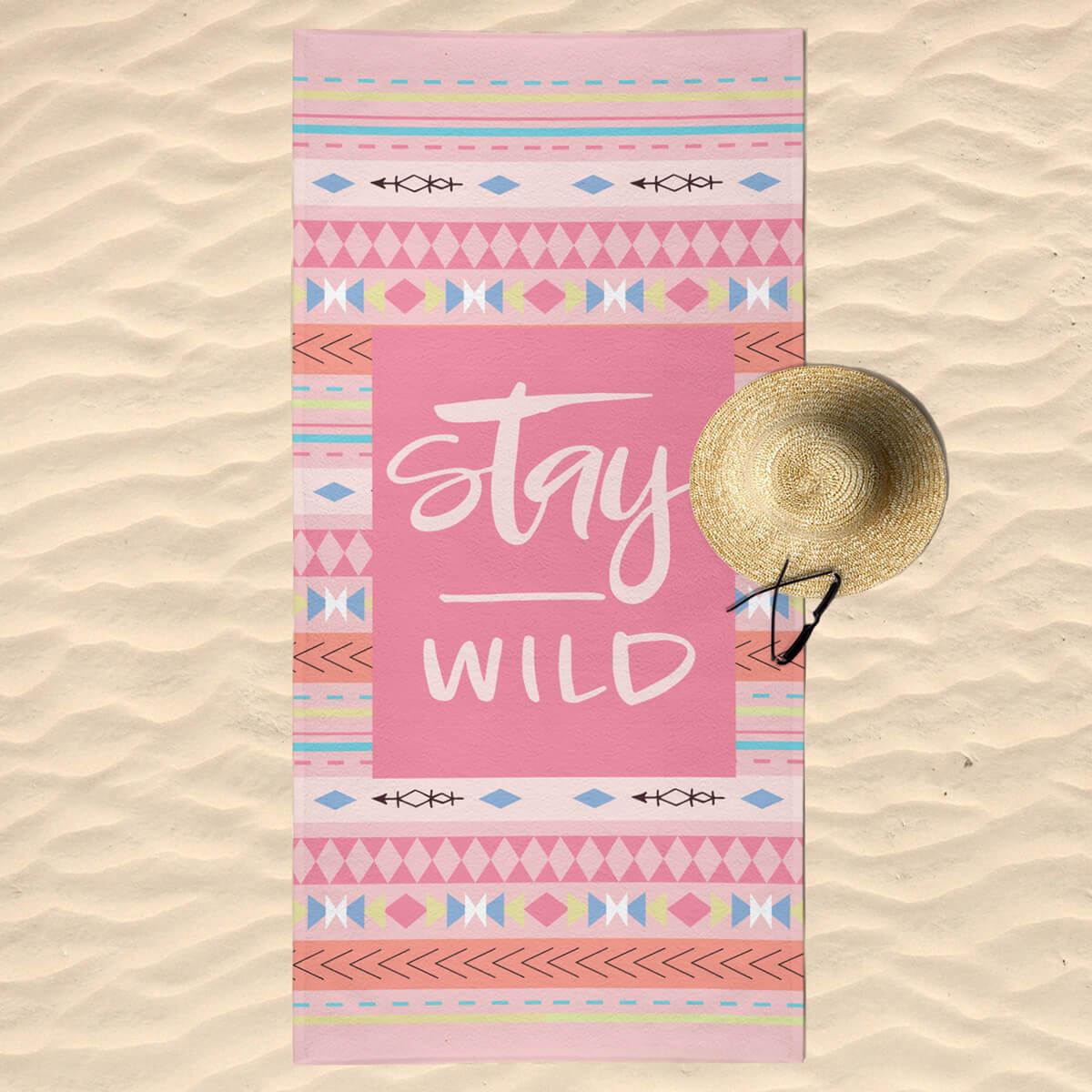 Toalha de Praia Estampada Stay Wild