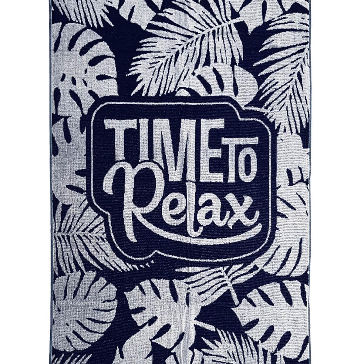 Toalha de Praia Felpuda Time to Relax Folhagem